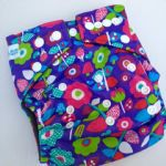 Baby Bum Boutique Basics - Purple Flowers - Bamboo charcoal nappies